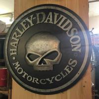 Harley Davidson - Skull 3D Pub Sign