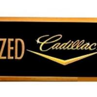authorized Cadillac Service  Arrow Sign
