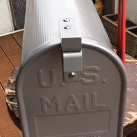US Mailbox silbern