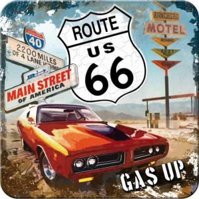 Route 66 Red Car Gas Up